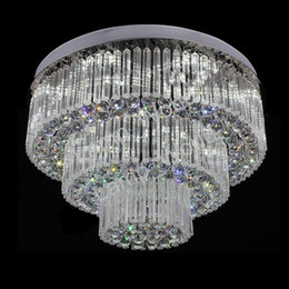 Wholesale luxury crystal lighting fixtures - New 3 layers modern crystal ceiling chandelier LED crystal light fixture luxury foyer crystal chandeliers free shipping
