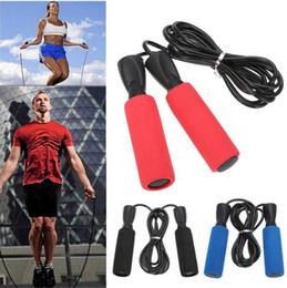 Salto cordas esportes on-line-2.8 M Pular Corda de Boxe Skipping Esponja Exercício Aeróbio Velocidade Urso de Fitness Rolamento Cordas de Salto Esportes OOA4984