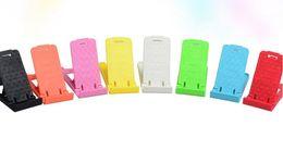 Soportes de plástico para tabletas online-Plegado Mini Soporte para teléfono móvil Soporte de teléfono perezoso de plástico Teléfonos con pantalla Accesorios para Samsung Tablet Xiaomi