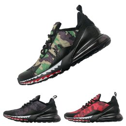 Wholesale camouflage green - Camouflage APE 270 Vapor Running Shoes 27C Plus TN Bathing Designer Sport Sneakers Jogging Trainers Fashion Casual Shoe Double Boxed