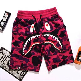 Wholesale Shark Trousers - Summer New Mens wommen lovers Sportswear Pants Jogger Tracksuit causel Crewneck Bird Drake Black Hip Hop stusay Men Shark mouth trousers