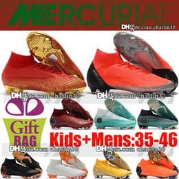 Élite originale en Ligne-Chaussures de football Neymar Cristiano Ronaldo 35-46 Chaussures de football Neymar Mercurial Superfly VI Elite FG ACC