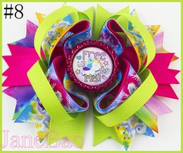 Wholesale inspire hair - free shipping 30pcs 4.5'' inspired unicorn hair bows cartoon rainbow unicorn hair clips