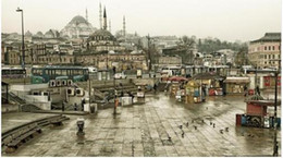 Wholesale Islamic Wall Decorations - Free shippingcity Istanbul Turkey mosques architecture Islamic architecture building buses town squares 4 Sizes Home Decoration Canvas Poste