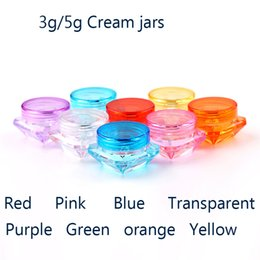 Wholesale Square Cream Cosmetic Jars - 100pcs x 3g Small Square Bottle Cosmetic Empty Jar Pot Eyeshadow Lip Balm Face Cream Sample Container