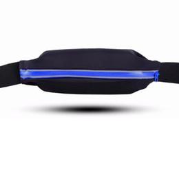 Мобильные телефоны онлайн-Тонкий легкий талии сумки пакет для сотового телефона сумки упражнения унисекс Мужчины Женщины светоотражающий ремень Zip закрытие необычные сумка