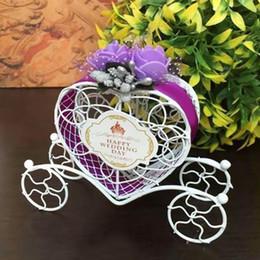 cinderella partido decorações Desconto Encantador Cinderela Carriage Candy Chocolate Boxes Decoração de Festa de Casamento de Aniversário Caixa de Doces Presentes de Casamento Para Os Convidados