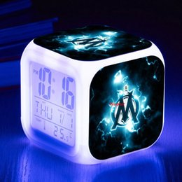 Wholesale Changing Logos - Football Design Logo Bedroom Night Lights Button Touch luminaria Led Night 7 colors Change ABS Table Lamp Young Kids Gift