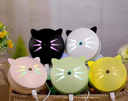 versteckte wifi kameras für zu hause Rabatt Nette Katze Luftbefeuchter Multi Color Cartoon Mini USB Stumm Ultraschall Ätherisches Öl Diffusor Hohe Qualität 35mt C R