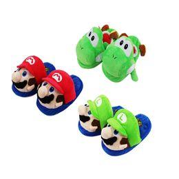 ded02f1b0b495 Haute Qualité 100% Coton Super Mario Bros Yoshi Hiver Chaud Pantoufles  Coton Intérieur Hourse Pantoufles Pour Adulte 28 cm de Gros