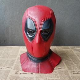 festa de cosplay partido halloween deadpool Desconto Latex Máscara Deadpool Balaclava Superhero Halloween Cosplay Partido Máscara Facial Assustador Completa