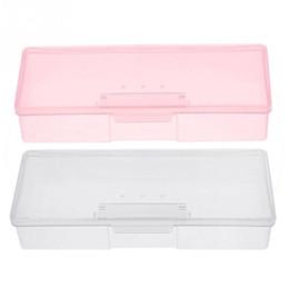 arquivos de caixas de armazenamento Desconto Nail Art Ferramenta Prego Arquivo Caixa De Armazenamento De Suprimentos Brushes Suprimentos Recipiente De Cutícula Organizador Caso Vazio