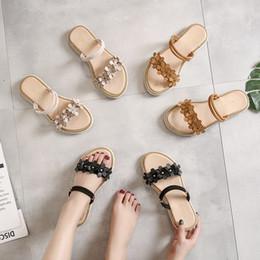 420dff0ec3fa LORFRCIN Women Sandals Summer Style Flower Flat Shoes Woman Fashion Peep  Toe Jelly Shoes Genuine Leather Women Slippers