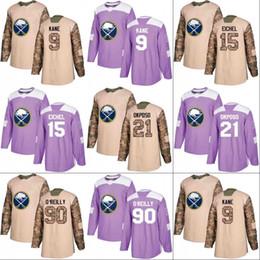 Wholesale Evander Kane - Buffalo Sabres Jersey Veterans Day Fights Cancer Practice 9 Evander Kane 15 Jack Eichel 21 Kyle Okposo 90 Ryan O'Reilly Hockey Jerseys
