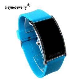 Wholesale Girl Hour - New Hot 12 Color Silicone Bracelet Watch Band Digital Watch Red LED Watches Women WristWatch Sport Clock Hours Girls Gifts