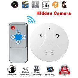 vídeo sem fio de movimento Desconto Frete Grátis Home Camera Detector de Fumaça HD Video Recorder com Movimento Gravação de Vídeo Ativado Controle RF Câmera de Segurança Sem Fio