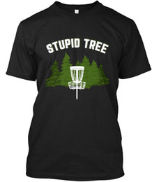 Disco Golf Stupid Tree - Venta al por mayor Cool Casual Sleeves Cotton T-Shirt Moda Camisetas nuevas Unisex Funny Tops Tee WholesaleTagless Tee T-Shirt desde fabricantes