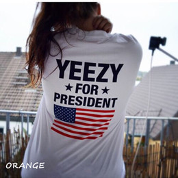 Wholesale Shirt United States Women - The flag of the United States Kanye West Kanye with all-match couples and women T-Shirt Tee