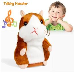 baby boy llaveros Rebajas 2018 Hablar Hamster Ratón Mascota de juguete de peluche Caliente Lindo Hablar Hablar Sonido Registro Hamster Juguete educativo Animales de peluche para los niños regalo