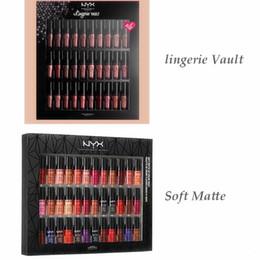 Wholesale lip gloss dropshipping - Dropshipping NYX SOFT MATTE LIP CREAM nyx 36PCS Set Lipstick Lip Gloss Matte No Fading Sofe Velvet Lip Makeup 36 colors set