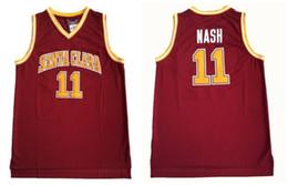 NCAA Santa Clara College 11 Steve Nash Jerseys Jersey de baloncesto para hombre Vintage cosido Shirt Classic Collection sport desde fabricantes