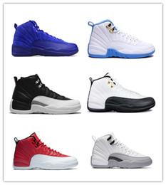 Canada Nike Air Jordan Retro Shoes 2018 pas cher 12 Bordeaux Chaussures de basketball en laine gris foncé Game Gym taxi rouge gamma français bleu baskets en daim US5.5-13 Offre