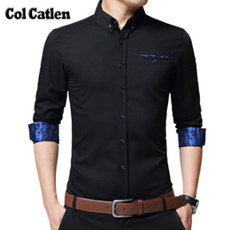4c3aead2551 New Brand Mens Shirts Long Sleeve Casual Cotton Shirts Men High Quality  Fashion Floral Business Shirt Office Slim Fit Blouse Man D18102302