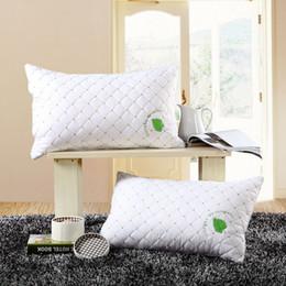 almohada de fibra hueca Rebajas Rectángulo casero del lecho Almohada cuidado de la salud cuello cervical 48 * 74cm almohadas de fibra hueca núcleo