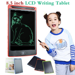 Wholesale office tablets - 8.5 inch LCD Writing Tablet Memo Drawing Board Blackboard Handwriting Pads With Upgraded Pen for Kids Office One Butt Christmas gifts