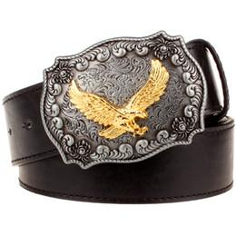 dea1187005e6 ceintures western aigle Promotion Ceinture en cuir pour hommes Boucle en  métal rétro Eagle totem Modèle