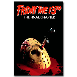 Wholesale Posters For Movies - Friday The 13th Art Silk Poster Print 13x20 24x36 inch Jason Voorhees Classic Horror Movie Picture for Room Wall Decor 005