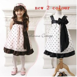 Wholesale Little Princess Dresses Free Shipping - Retail New girl dress kids one-piece dresses Sling Princess Dress Princess spell color little dress Free Shipping