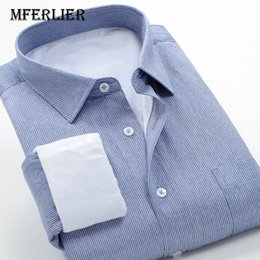 2019 Mode Neue Arrivla Formale Extra Große Hohe Qualität Striped Frühling Männer Mode Lange-sleeve Shirt Plus Größe M-5xl 6xl 7xl 8xl 9xl 10xl Hemden Herrenbekleidung & Zubehör