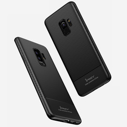 Wholesale Ultra Slim Case For Iphone - iPaky Case For Samsung Galaxy S9 Plus Carbon Fiber TPU Back Cover S9 Drop-proof Shockproof Soft Ultra Thin Slim Cases With Package Stock