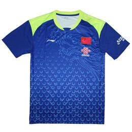 Wholesale china man t shirt - 2018 China Li-Ning table tennis shirt Men , Ma Long Jerseys pingpong t-shirt , ping pong Team clothes 6031A