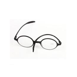 Telai di vetro in plastica neri rotondi online-Occhiali da lettura retrò Occhiali da lettura in resina rotondi Occhiali da lettura per donna Uomini Lente di ingrandimento nero Full Plastic Frame + 1.0 ~ + 4.0 Light Weight