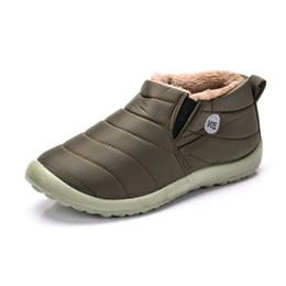 buy online 8c3e8 6e8d2 Winterschuhe für Männer beiläufige warme Plüsch wasserdichtes Gewebe für  Männer Stiefel von Tür Slip-On Winter Herrenschuhe große Größe