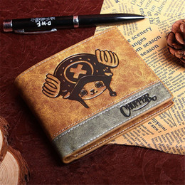 Wholesale Naruto Wallets - Woman Man Wallet new Fashion Cartoon Anime Student Purse Chopper Totoro Naruto Conan Edgar Attack on Titan Cool brown Billfold