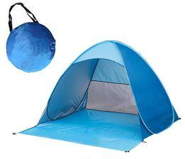 2019 poly sonne Draußen schützt Schutzzelt für den Strand-Reiserasen, der Campingzelt-Schatten-Ausgangsausflug buntes DHL-freies Verschiffen wandert