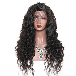 Wholesale Long Black Wig Thick - Top Quality 7A 150% density Brazilian Thick Full Lace Human Hair Wigs Lace Front Hair Wigs With Nature Hairline For Black Woman