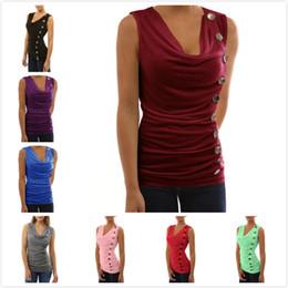 Wholesale Sports Full T Shirts - Women V neck Sleeveless Irregular T shirt Summer Top Tee Sports Baseball T shirt Maternity Tops Tee Vest Plus Size