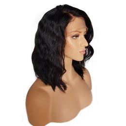 Canada Perruque synthétique avant de lacet perruque de longueur moyenne 12-16 pouces ondulé perruque de cheveux synthétiques résistant à la chaleur de cheveux pour les femmes noires cheap medium length hair women Offre
