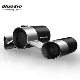 Mikrofoneffekte online-Bluedio US Wireless Home Audio Lautsprechersystem Patentierte Drei Treiber Bluetooth Lautsprecher mit Mikrofon Bass 3D Sound-Effekt