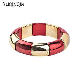 bc63405e05e Trendy Resin Cuff Fashion Bracelet Bangles for Women Stretch Colourful Acrylic  Bracelets Female Simple Charm Party Gifts Jewelry