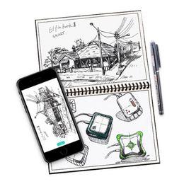 Elfinbook 2.0 Apagável Notebook Reutilizável Inteligente 2 Notebook Microondas Onda Nuvem Apagar Notepad Forrado Com Caneta A5 B5 Papel DHL de