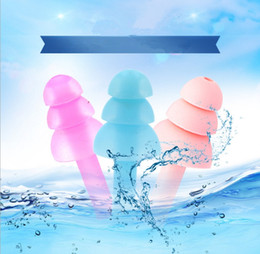 Wholesale Flexible Shower - Silicone Earplugs Swimmers Soft and Flexible Ear Plugs for Swimming or Sleeping Surfing Showering and Construction work