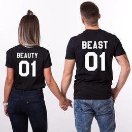 2019 bellezza della maglietta degli uomini T-shirt da amante T-shirt da donna a maniche corte T-shirt da donna estiva di bellezza bestia Lettera Pinted T-shirt da uomo nero T-shirt da uomo nuova sconti bellezza della maglietta degli uomini