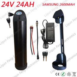 UE US aucune taxe batterie 24V 24AH 500W Lithium ion batterie pour vélo électrique utiliser des cellules SAMSUNG 2600MAH avec 20A BMS + 2A chargeur ? partir de fabricateur