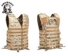 SINAIRSOFT Molle Airsoft Gilet tattico Gilet mimetico Army CS Caccia pesca all'aperto Gear con tasca idratazione Ciras Stealth Vest da