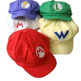 Wholesale Marie Red - er Baseball Cap Classic Super Marie Hat Colors Fun Cartoon Movie Cosplay Accessories Hot Sale 6 5fh WW